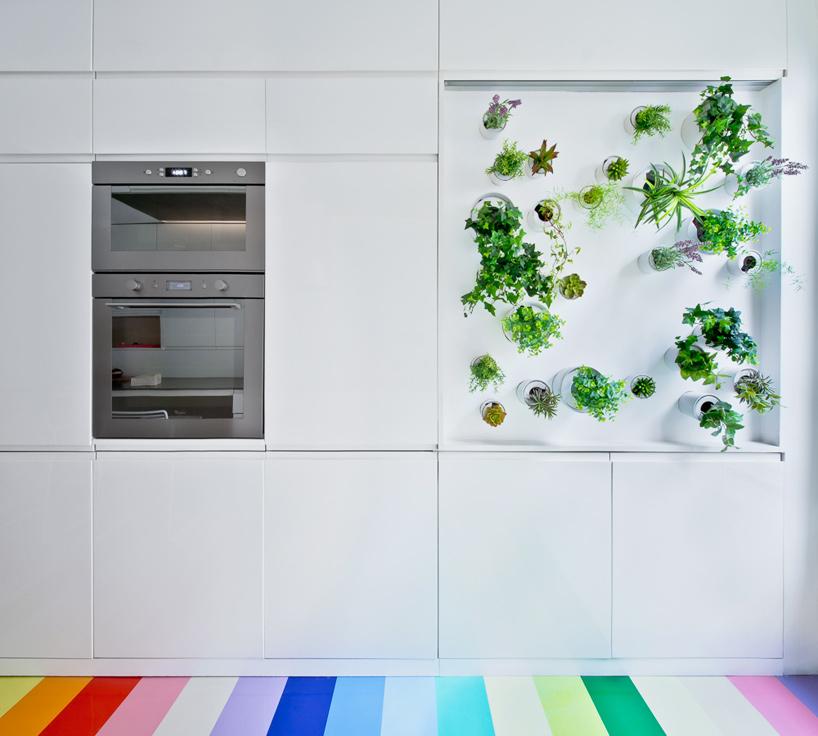 parisian apartment of a young fashion designer 7 Vertical Garden Grows In This Parisian Apartment Of A Young Fashion Designer