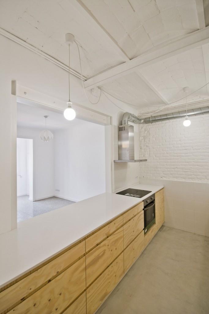 apartment renovation in barcelona 9 683x1024 Minimal Apartment Renovation In Barcelona