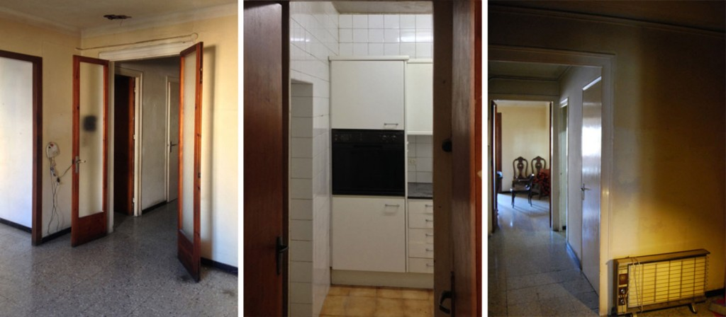 casp renovation progress 3 1024x448 Minimal Apartment Renovation In Barcelona