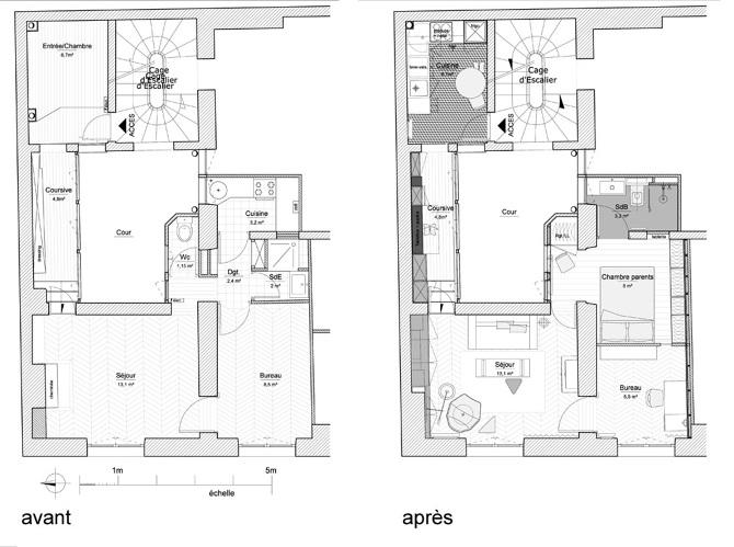 paris apartment8 Paris Apartment by Charlotte Vauvillier