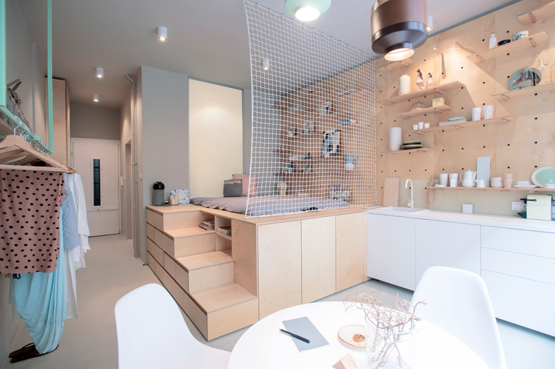 a 30m2 Studio Apartment In Budapest Accommodates Everything You Need For a Weekend Trip