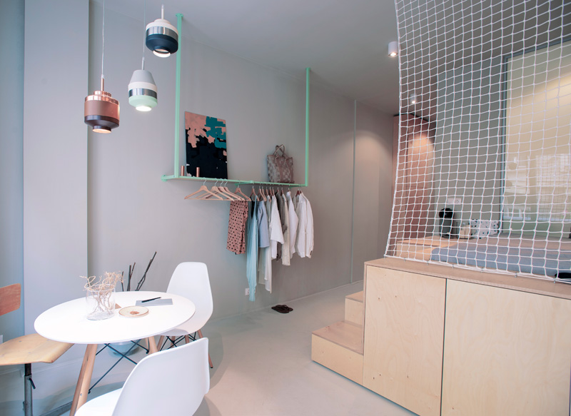 a 30m2 studio apartment in budapest accommodates everything you need for a weekend trip 3 a 30m2 Studio Apartment In Budapest Accommodates Everything You Need For a Weekend Trip