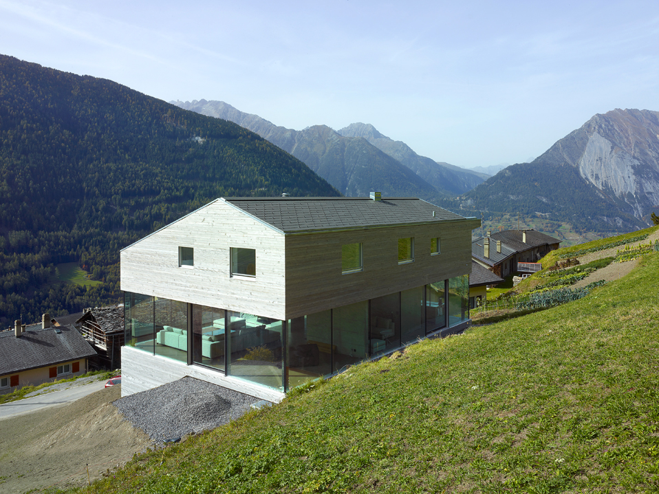 Low-energy Consumption House In Swiss Alps By Savioz Fabrizzi Architects
