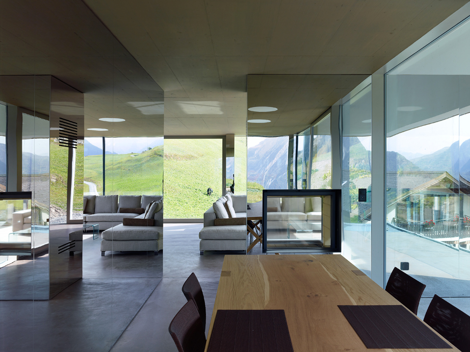 house in the swiss alps by savioz fabrizzi architects 8 Low energy Consumption House In Swiss Alps By Savioz Fabrizzi Architects