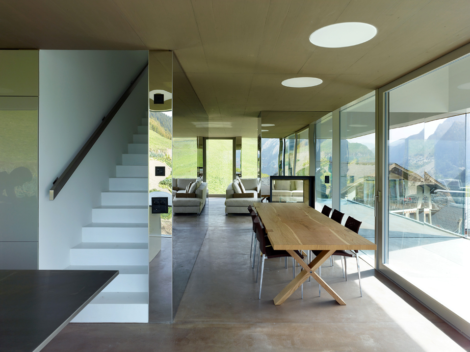 house in the swiss alps by savioz fabrizzi architects 9 Low energy Consumption House In Swiss Alps By Savioz Fabrizzi Architects
