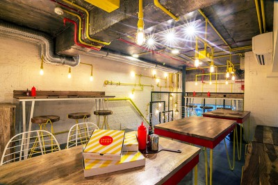 Industrial Style Was Used To Design This Pizza Restaurant In New Delhi