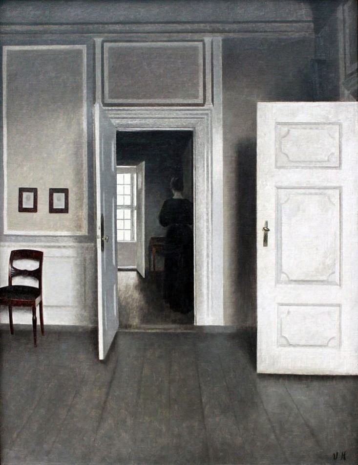 piano nobile apartment inspired by vilhelm hammershois paintings 8 Piano Nobile Apartment Inspired By Vilhelm Hammershois Paintings
