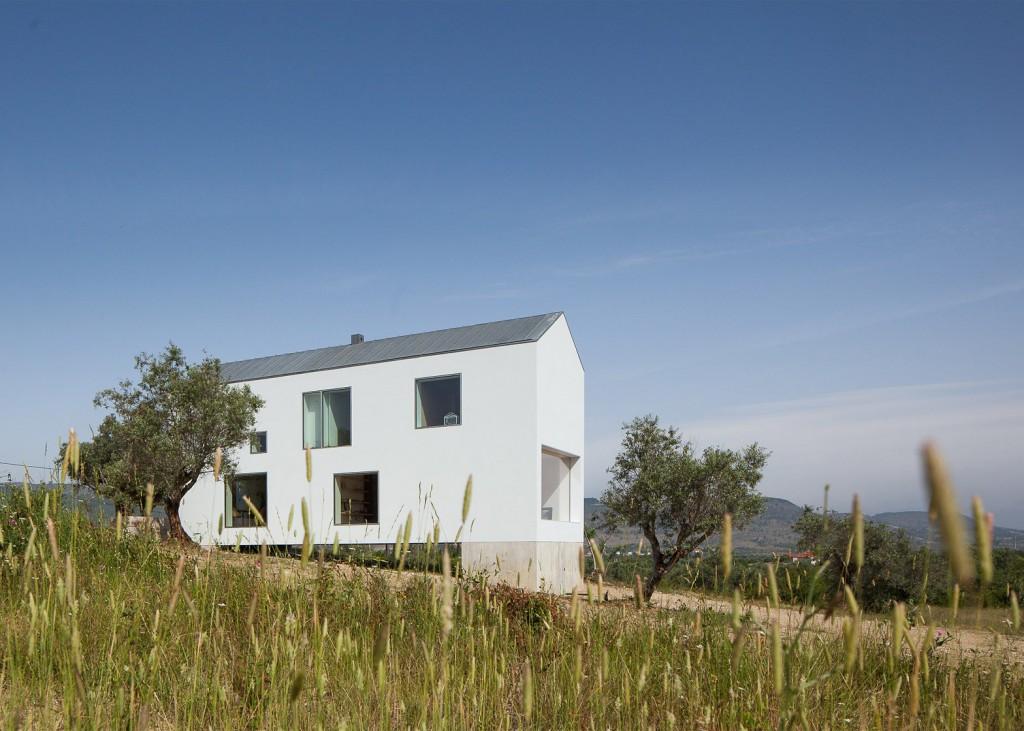 white tall house by joao mendes ribeiro 4 1024x731 White & Tall House By João Mendes Ribeiro