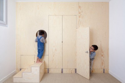 One Big Space Was Divided Into 4 By Adding Wooden Partitions