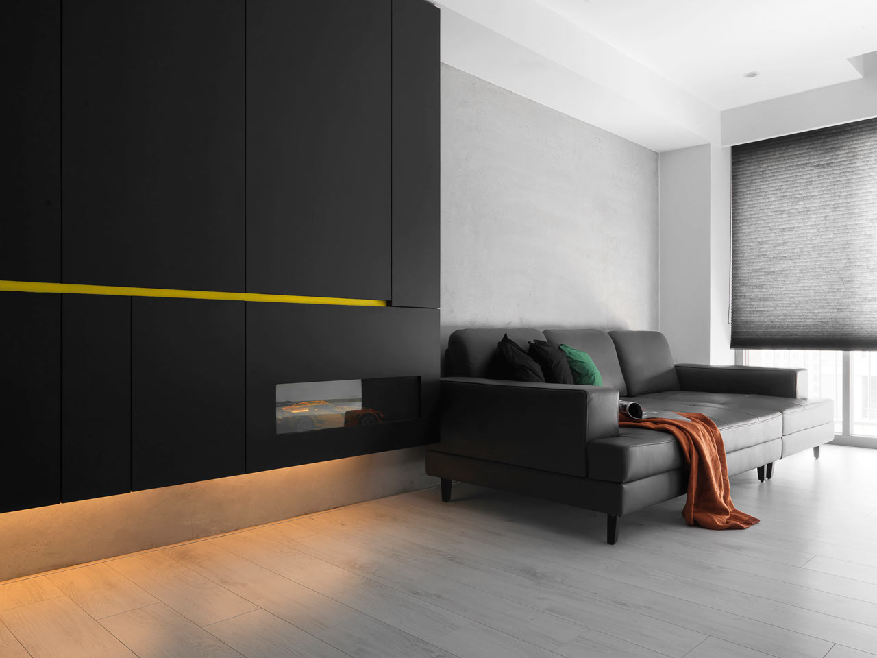 taichung h residence1 Modern Apartment with Bright Yellow Accents