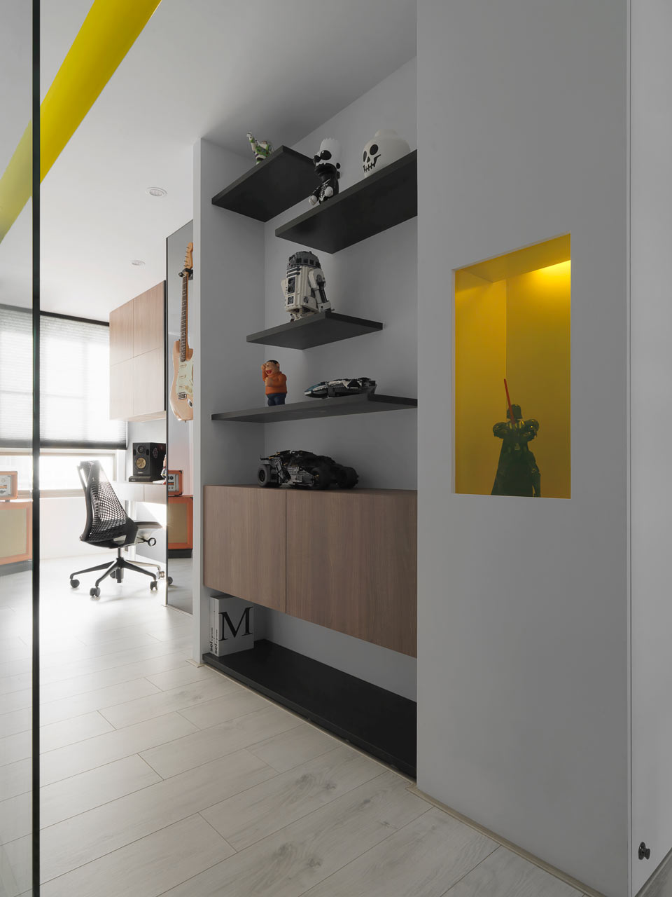 taichung h residence11 Modern Apartment with Bright Yellow Accents