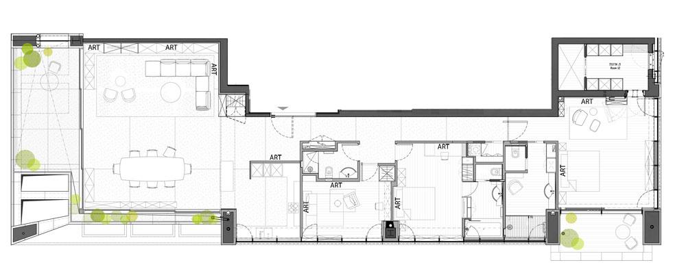asaf lerman 225 apartment tel aviv6 Penthouse in Tel Aviv by Asaf Lerman Architects