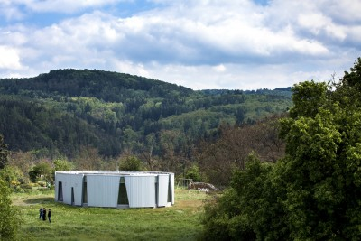 Low-energy House is Surrounded by Beautiful Woods and Hills of Štěchovice