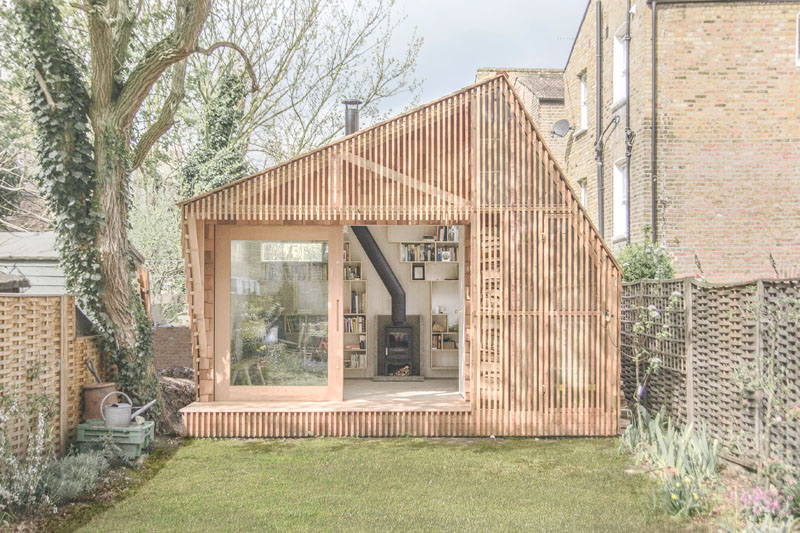 This Tiny Shed was Designed as a Workspace for a Writer