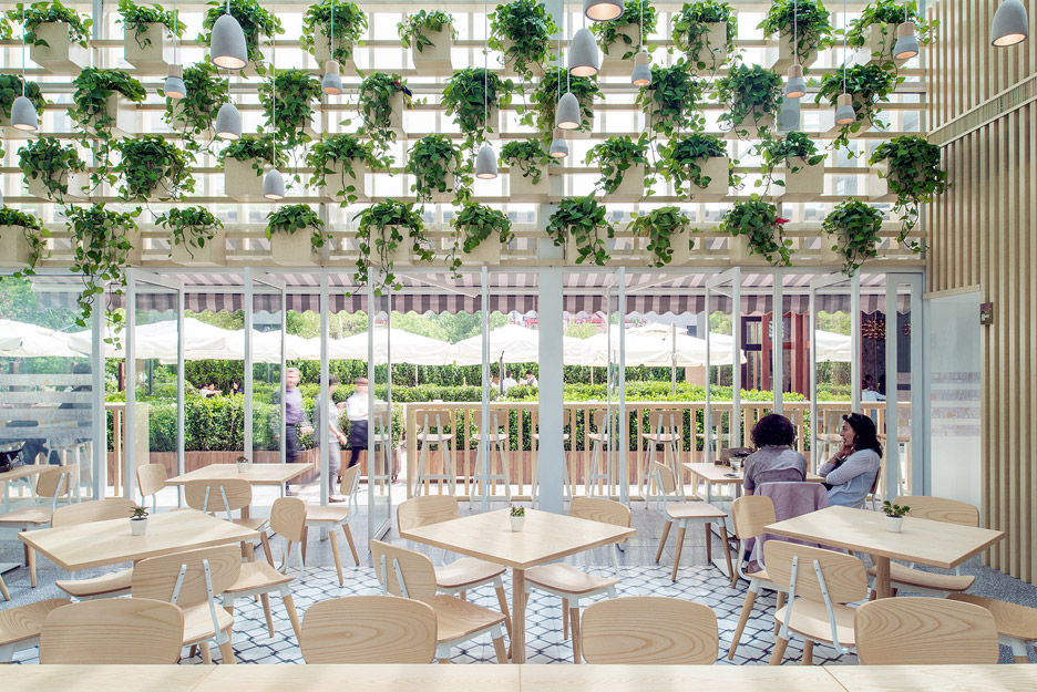 transformed greenhouse into plant lined coffee shop by the four o nine architects 2 Transformed greenhouse into plant lined coffee shop by the Four O Nine architects