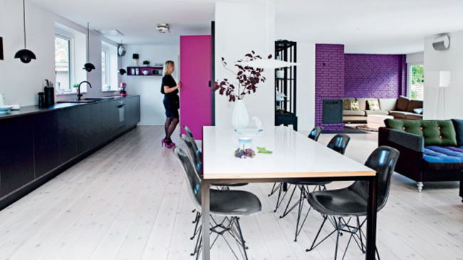 colourful home 01 A Colourful and Airy Home in Denmark