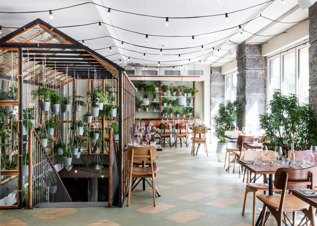 danish design studio creates an indoor garden for a restaurant 1 1024x731 Danish Design Studio Creates an Indoor Garden For a Restaurant