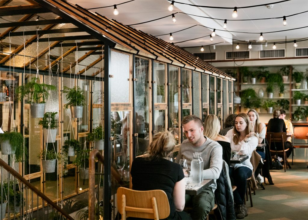 danish design studio creates an indoor garden for a restaurant 2 1024x731 Danish Design Studio Creates an Indoor Garden For a Restaurant