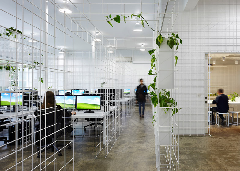 matrix wireframe design in the in squintoperas melbourne office 01 Office Design Ideas That Will Promote Employee Wellness