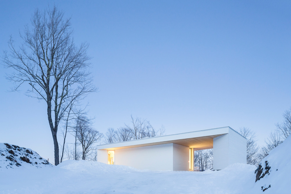 nook residence by mu architecture blends with winter landscape 8 Nook Residence by MU Architecture Blends with Winter Landscape