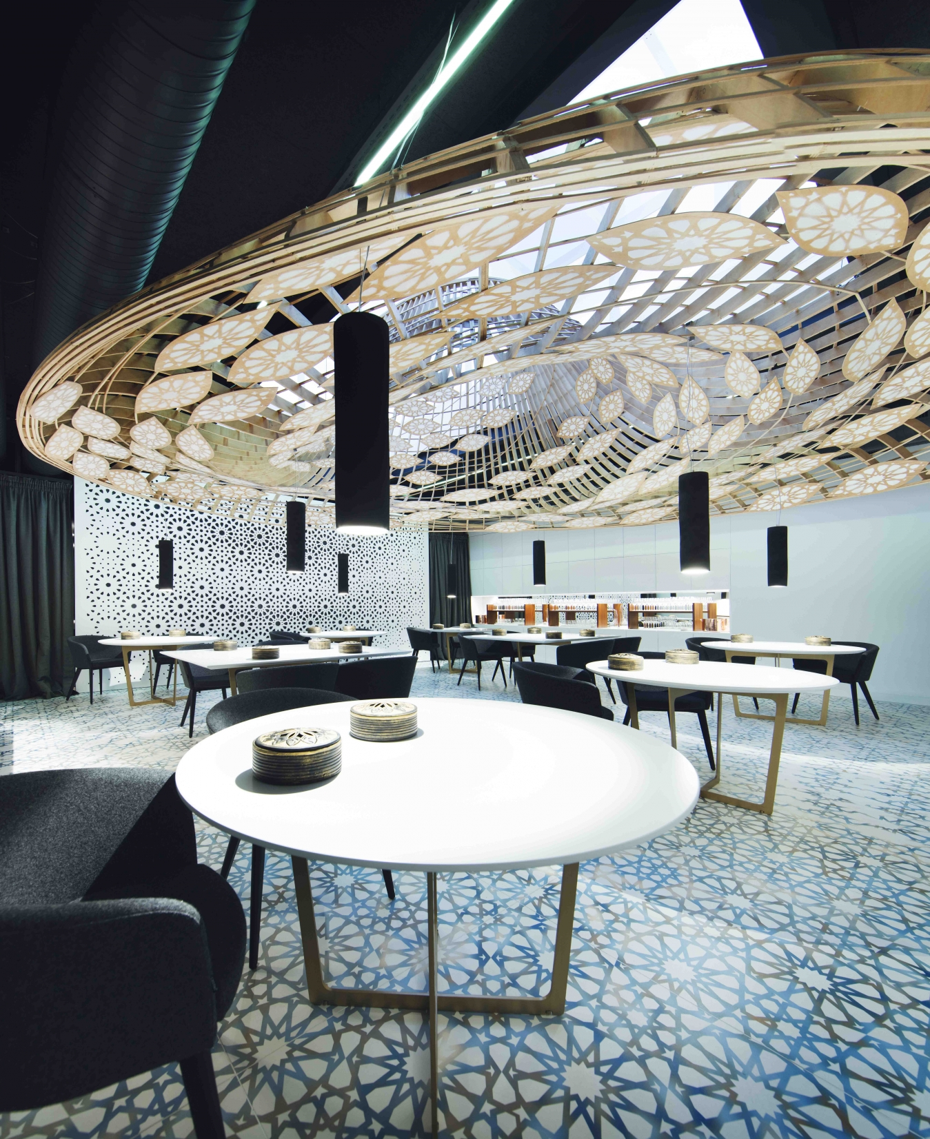 restaurant full of pattern by the gg architects 3 Restaurant full of pattern by the GG architects