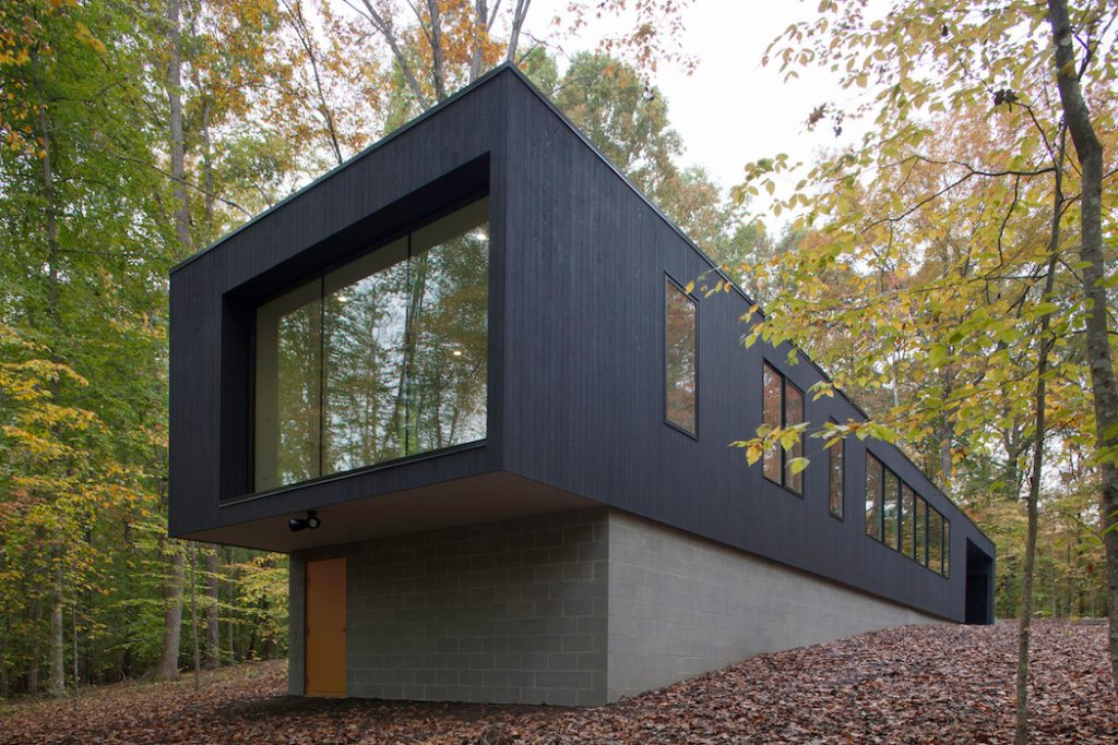 black house hidden in the forest by in situ studio 7 1024x683 Black House Hidden In The Forest By in situ studio