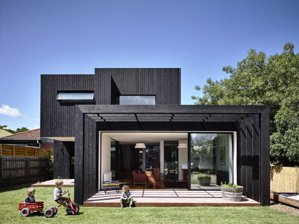 a dwelling project with wooden addition by Ola Studio