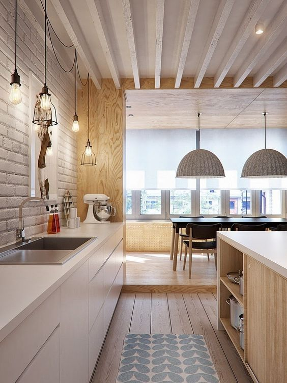 beautiful kitchen with a big dinning room Dream kitchens   a collection of 35 most beautiful kitchens