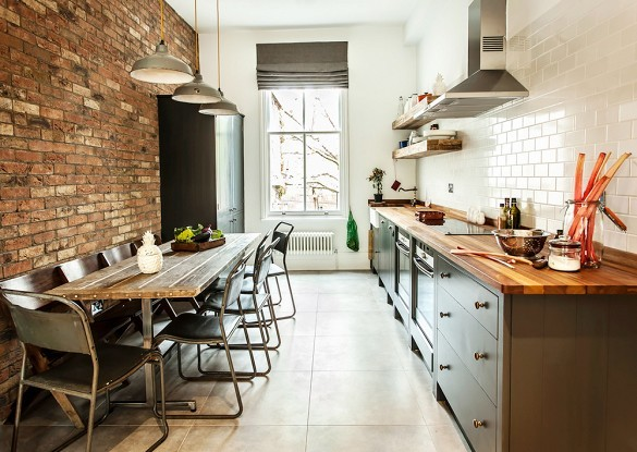 exposed brick wall kitchen idea Dream kitchens   a collection of 35 most beautiful kitchens
