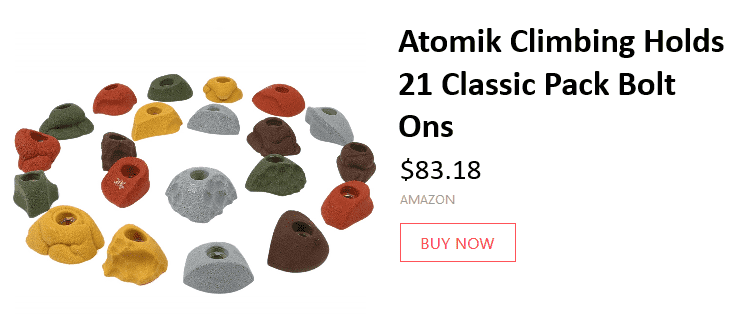 atomik climbing holds for home or gym rock climbing walls 22 Awesome Rock Climbing Wall Ideas For Your Home