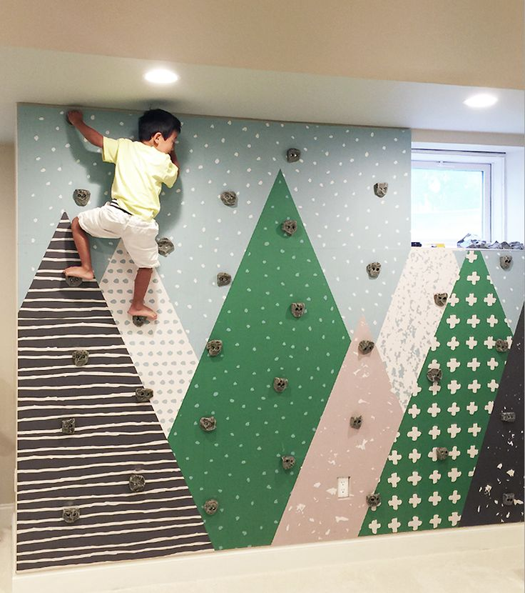 basement decorating ideas kids basement bedroom 22 Awesome Rock Climbing Wall Ideas For Your Home