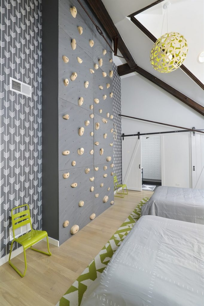 indoor rock climbing wall 1 682x1024 22 Awesome Rock Climbing Wall Ideas For Your Home