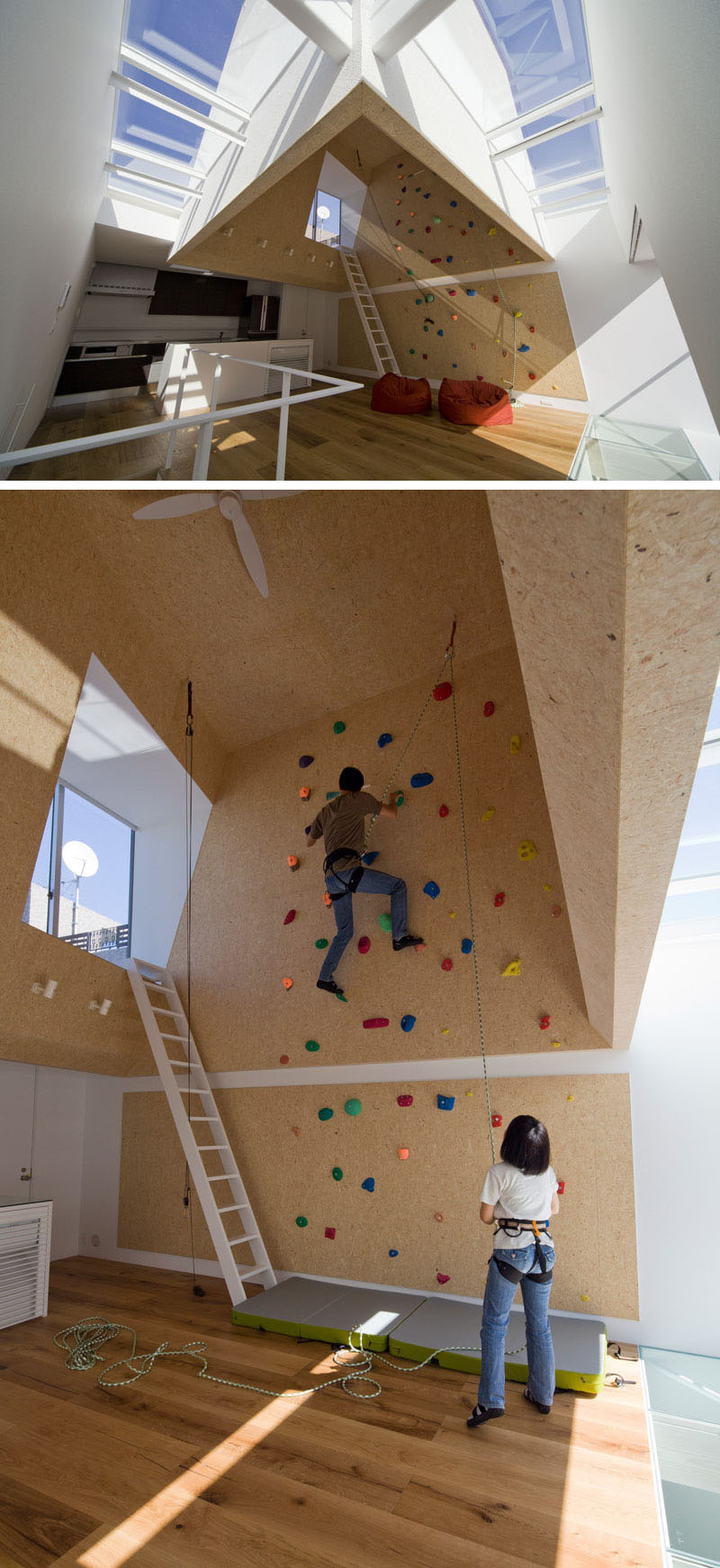 rock climbing wall in kitchen 22 Awesome Rock Climbing Wall Ideas For Your Home