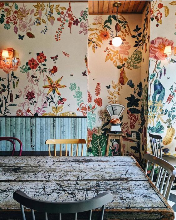 florals 6 Interior Design Trends to Watch Out for in 2018