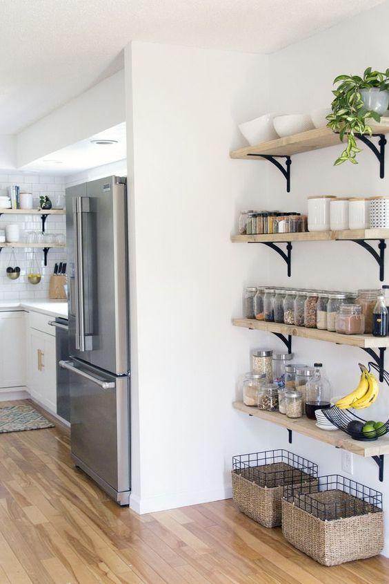 open storage in the kitchen The Perfect Cooking Space Has These 5 Elements