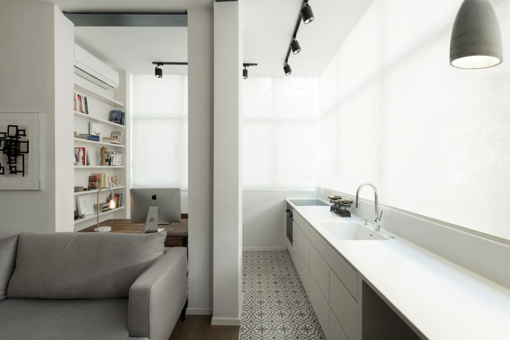 17031 kitchen and wor 1024x684 59m² Apartment in Central Tel Aviv by XS Studio