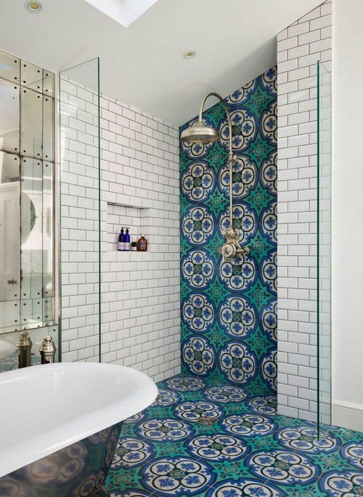 moroccan tile shower 747x1024 Interior Ideas to Transform Your Bathroom