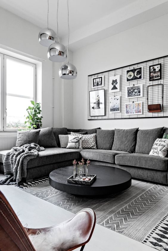 circular black wooden low profile coffee table Modern Coffee Table: 23 Best Designs and Ideas for Your Living Room