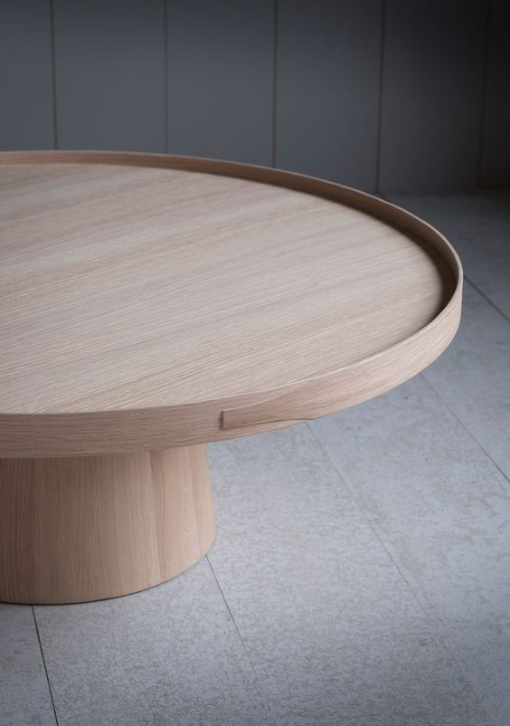 solid wooden circular coffee table Modern Coffee Table: 23 Best Designs and Ideas for Your Living Room