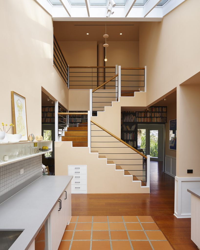 central staircase 819x1024 1920s Melbourne Home Renovation By Drawing Room Architecture