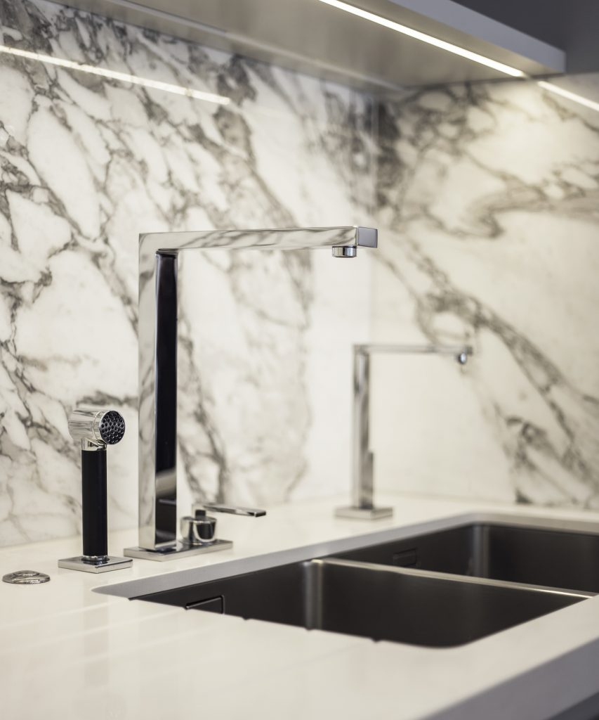 after 1f kitchen tap marble detail lli design 853x1024 A Total Refurbishment Of A Seven story Townhouse In Highgate