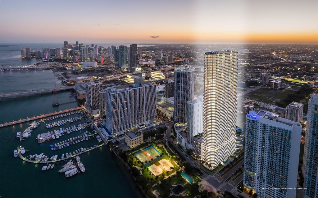 aria on the bay 1024x640 5 Luxurious Properties you'll find in Miami