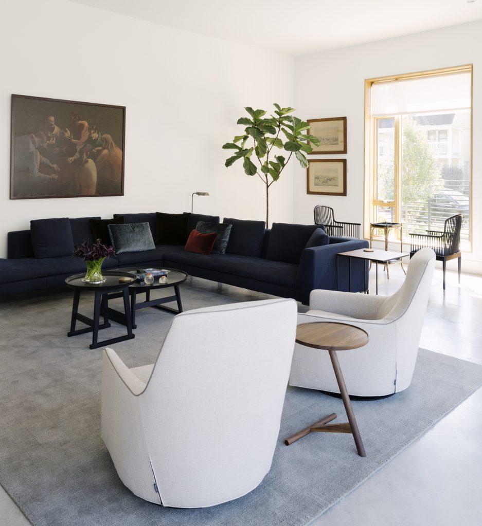 living room 1 937x1024 Family Headquarters by Viviano Viviano architecture