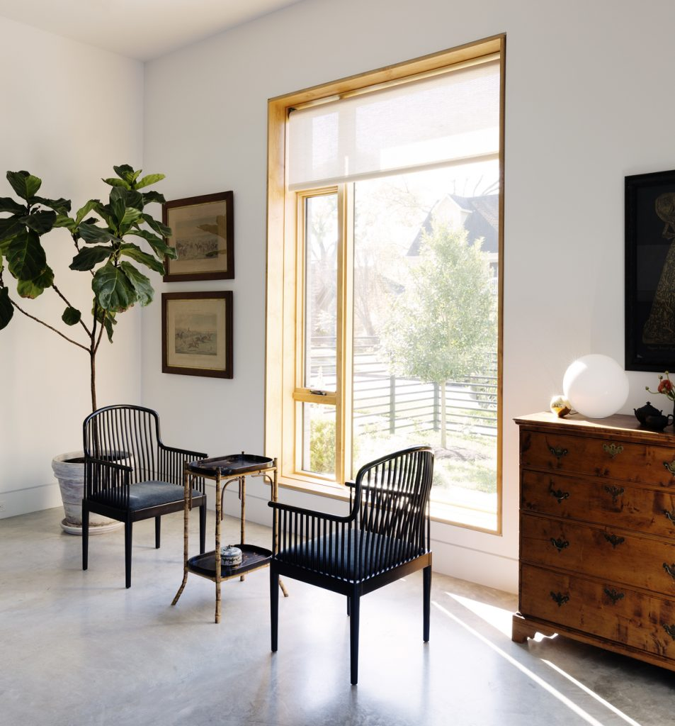 living room front 953x1024 Family Headquarters by Viviano Viviano architecture