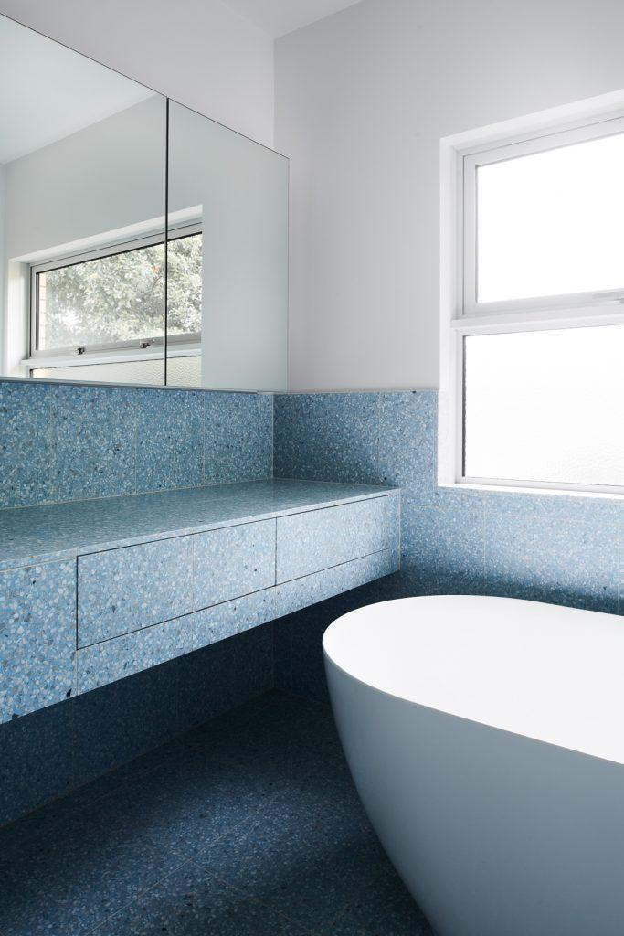 minimal bathroom detail 683x1024 Northcote House Renovation By Winwood Mckenzie Architecture