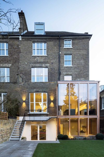 Extension to a large Georgian villa in North London