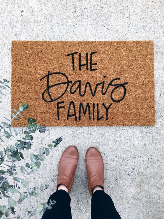personalized doormat 8 Low Cost Ideas for Creating a Unique Home Interior