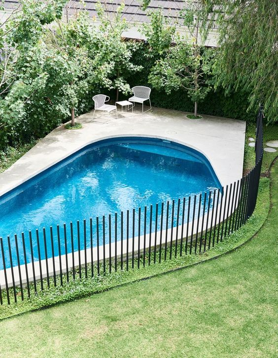 minimalist pool fencing How to Repurpose Your Garden Space in 2020