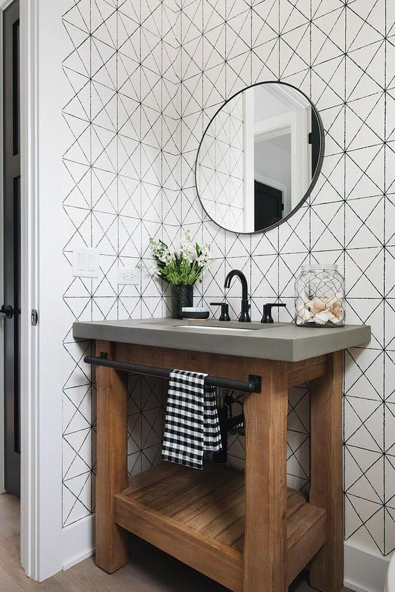 creamy white rectangle pattern Ride the Geometric Wave: The Latest Home Design Trend