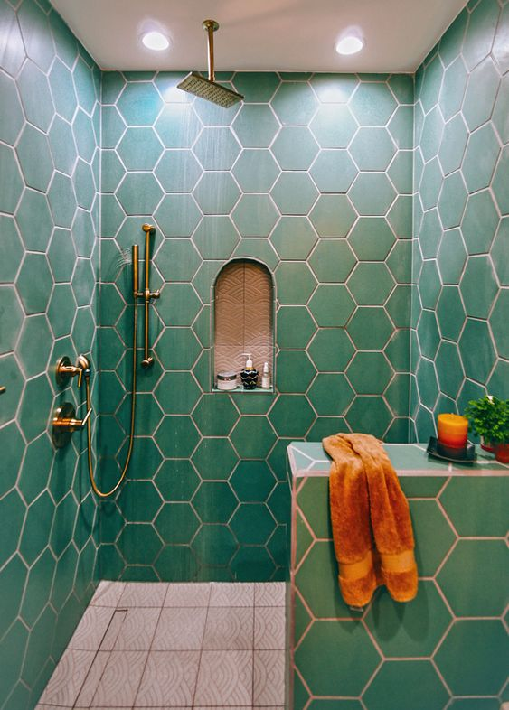 honeycomb tile pattern Ride the Geometric Wave: The Latest Home Design Trend